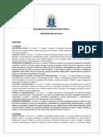 Ementas Das Disciplinas de Administração Pubica UFRRJ
