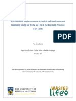 Smythe T a Preliminary Socio Economic, Technical and Environmental Feasibility Study for Waste for Life in the Western Province of Sri Lanka