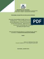 El Proceso Del Aprendizaje Del Inglés Técnico en La Formación de Los Estudiantes de La Carrera de Ing. Civil de La Fac. Ciencias Matemáticas y Fisica