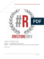 Restore CRFV - Platform/Vision