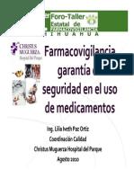 Certificacion Seguridad y Farmacovigilancia