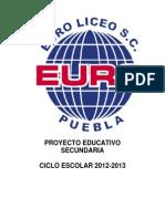Proyecto Educativo Secundaria 2012 2013