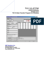 TG110-Dtpw Manual 207 With USB Addendum