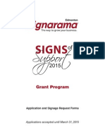 Signs of Support Application 2015