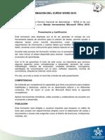 Información Del Curso Word 2010