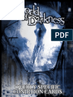 World of Darkness Overly Specific Condition Cards