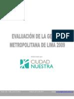 Evaluación  MML 2009 CN