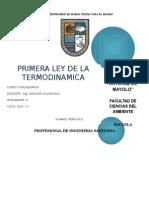 1ra Ley de La Termodinamica