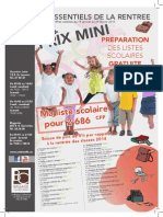 Catalogue Rentrée des classes 2015