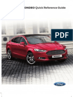 Ford Mondeo 2015 Quick Guide