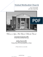 Spiro First United Methodist Church Worship Bulletin - January 17, 2010