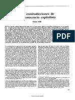 Offe, Claus Las Contradicciones de La Democracia Capitalista, En Convergencia. Revista Del Socialismo Chileno y Latinoamericano, n.15 May-1989, Pp.53-59