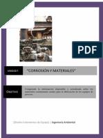 Unidad I Corrosion y materiales