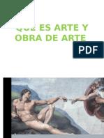 Que Es Arte y Obra de Arte