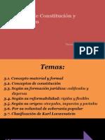 Concepto de Constitución y Clasificación