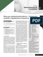 Obras Por Administración Directa - Tratamiento Contable y Liquidacion Financiera