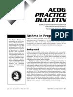 ACOG Practice Bulletin - Asthma in Pregnancy