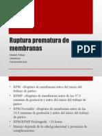 Ruptura Prematura de Membranas (1)