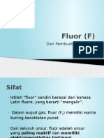 Fluor (F) Halogen Anorganik