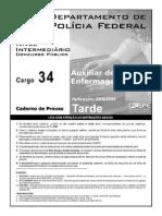 Cespe 2004 Policia Federal Auxiliar de Enfermagem Prova