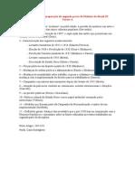 Topicos Para a Preparacao Da Segunda Prova de Historia Do Brasil III - Turma A