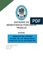 Sociedad de Beneficencia Pública de Trujillo Sociedad de Beneficencia Pública de Trujillo Sociedad de Beneficencia Pública de Trujillo