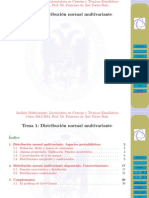 Distribucion Normal Multivariada