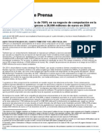 SAP Presenta Resultados Financieros 2014 y Q4