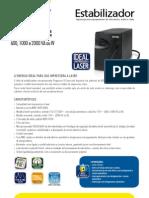Catalogos de Estabilizadores SMS Progressive III Laser 600, 1000 e 2000 VA (22200 24100 110727)