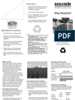 Why Recycle Brochure