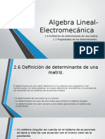 Algebra Lineal- Electromecánica