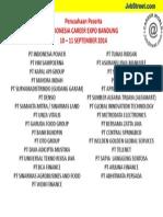List Perusahaan Indonesia Career Expo Bandung 10 11 September 2014