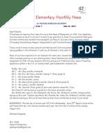 American Academy in Al-Mizhar, KG & Elementary Monthly News