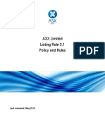 034.ASX Listing Rule 3.1