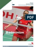Badminton Design Guide