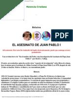La Conspiracion Que Sufrió el Papa Juan Pablo I