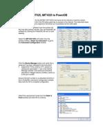 Interfacing MIT525 to PowerDB