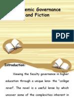 Academic Governance and Fiction