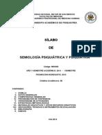 Sílabo de Semiología Psiquiátrica y Psiquiatría