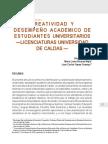 Creatividad y Desempeño Académico de Estudiantes Universitarios