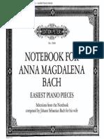 Bach-The Anna Magdalena Bach-SheetMusicTradeCom