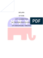 Chesapeake GOP Bylaws