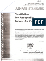 ASHRAE 62.1-2007(Ventilation for Acceptable Indoor Air Quality