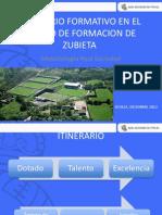 ITINERARIO FORMATIVO EN EL  CENTRO DE FORMACION DE  ZUBIETA  Metodología Real Sociedad