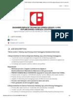 ENGINEER_SERVICE TECHNICIAN (FRESH GRADS,1-3YRS EXP,MECH_E&E)~VARIOUS LOCATION _ Agensi Pekerjaan Crest Force (M) Sdn Bhd (JTK 1689)