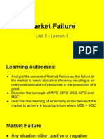 unit 5 market failure lesson 1