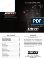 HOYT 2012 Compound Bow User Manual