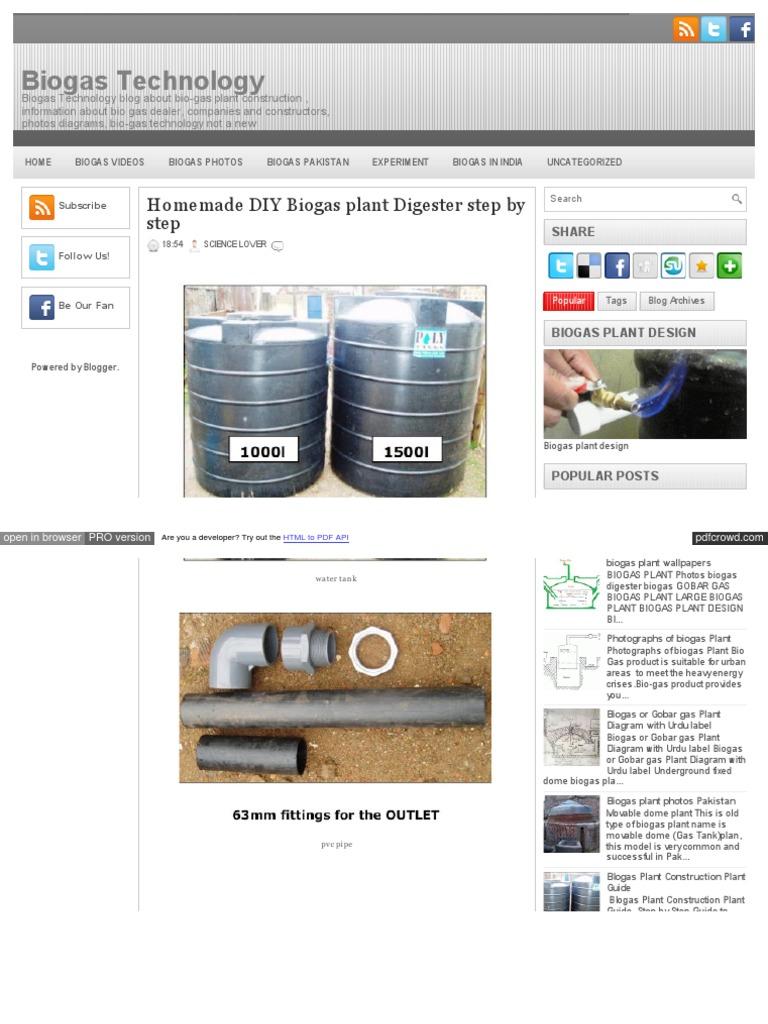 Biogas Technology Blogspot In 2013 06 Homemade Diy Pl Biogasplantdiagram World Wide Web Consortium Standards