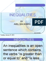12 Inequality Equations
