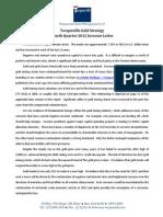 Tocqueville Gold - 4Q 2012 Investor Letter